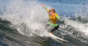 Zach McCormick scored a 9.2 on a wave in the first heat