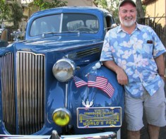 Phillip Pizzuto with1939 Packard (courtesy photo)