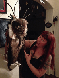 Tania Yager and Krampus