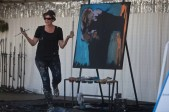 Artist, Amy Burkman displayed her speed painting talents on Saturday