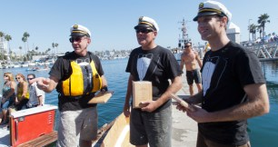 'Two Hour Yacht Club' crew Allen, Robert and John Bakalyar took second place in Nail and Sail