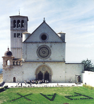 This church in Assisi houses the remains of St. Francis, founder of the order of friars who established the string of missions that form the backbone of California. -- Cecil Scaglione photo