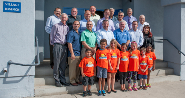 Board Presidents from 1950s-Present with young Club members (courtesy photo)