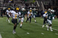 Tyler Horton takes a punt return down the right sideline for 64 yards