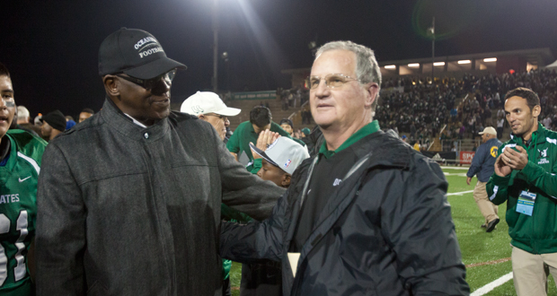 Willie Buchanon and Coach John Carroll at the CIF Championship game