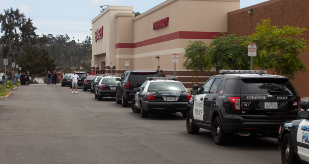 Police from Oceanside and Carlsbad responded to the incident shortly after 1:00pm