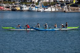 The Outrigger rides were a popular attraction st Harbor Days