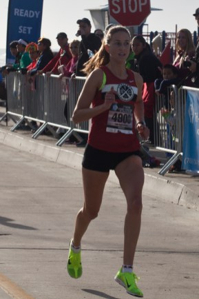 Lindsay Drake of Carlsbad first female across the line in the 5k