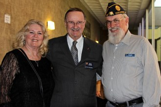Ken & Brenda Derr (President, American Legion Riders) with the extremely supportive Oceanside Mayor Jim Wood at American Legion Law & Order Awards