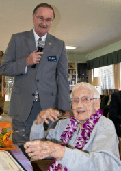 Mayor Jim Wood and Myrtle Lay (Click on image to enlarge photo)