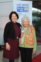 United Way of San Diego County President and CEO Laurie Coskey, Ed.D. with Deborah Szekely