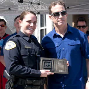 OPD Officer of the year, Jeannette McDuffee