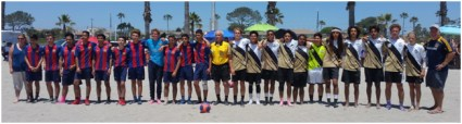 Barcelona Cantera and SoCal Legacy pictured above just a few minutes prior to the kick-off of the final match at the Beach Soccer Championships