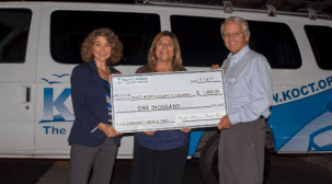 Pacific Marine Credit Union made a generous donation in support of KOCT.