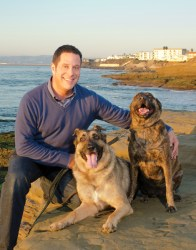 Gary Weitzman with dogs Jake and Betty