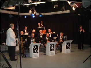The early Oceanside Society Orchestra performing on KOCT-TV