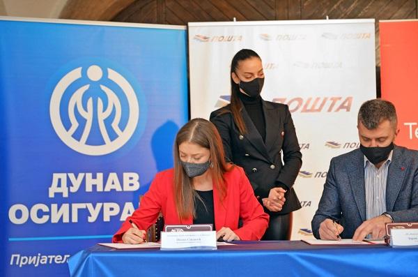 Potpisan protokol o suradnji između Dunav osiguranja, JP Pošta Srbije, Telekom Srbija, Banke Poštanska štedionica
