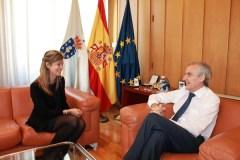 O subdelegado do Goberno reúnese coa nova directora do INSS
