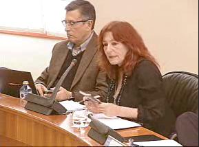 A socialista Carmen Acuña, na comisión de Cultura do Parlamento.