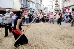 Recreación da malla tradicional en Viana