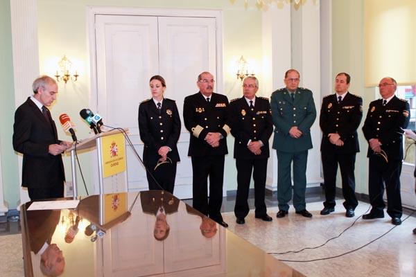O subdelegado do Goberno en Ourense, na súa intervención no acto.