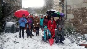 Fin de semana de inglés e nevada en Valdín (A Veiga)