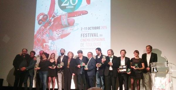 Os galardoados na vinte edición deste festival francés, na gala de clausura./ Foto: Vía Láctea Filmes.