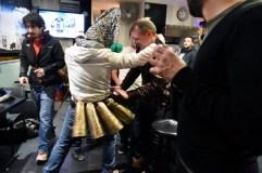 Os Felos anuncian en Maceda a proximidade do Entroido