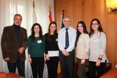 Catro universitarias completan a súa formación con prácticas na Subdelegación do Goberno en Ourense