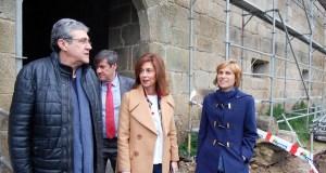Visita ás obras do que será o primeiro spa de viñoterapia de Galicia