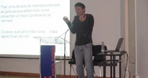 Charla de divulgación científica de Jorge Mira no IES García Barbón de Verín