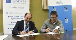 O Clúster da Lousa e a D.O. Valdeorras asinan convenios coa Galicia Business School