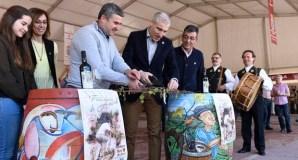 O tradicional corte de bacelos abre a XXXVII Feira do Viño de Amandi, en Sober