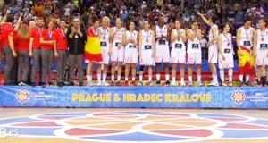 A selección do valdeorrés Lucas Mondelo logra o terceiro ouro de España nun Eurobásket feminino