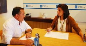 O alcalde de Larouco reúnese coa conselleira do Medio Rural