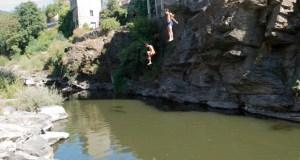 Espectaculares saltos no río Sil