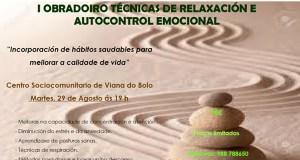 I Obradoiro de Técnicas de Relaxación e Autocontrol Emocional, en Viana