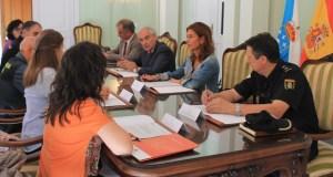 Reunión para coordinar o control do transporte de uva na provincia