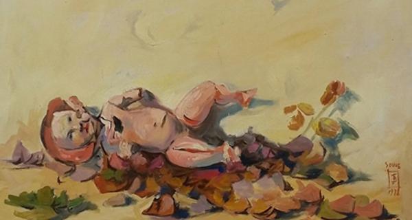 A obra do pintor barquense Jesús Díaz exponse na galería Soho de Vigo