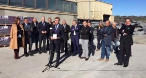 O presidente da Xunta visita o sector da lousa en Valdeorras