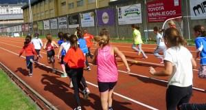 As pistas de atletismo do Barco, sede da Liga galega escolar das provincias de Lugo e Ourense