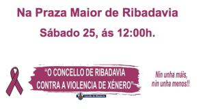 Ribadavia prepara un amplo calendario para celebrar o día contra a violencia de xénero