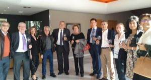Brindes con viño valdeorrés na entrega dos XL Premios da Crítica de Galicia, en Vigo