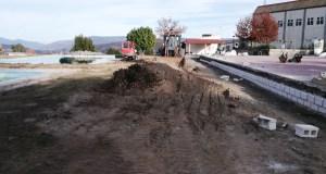 Obras de mellora nas piscinas municipais de Manzaneda