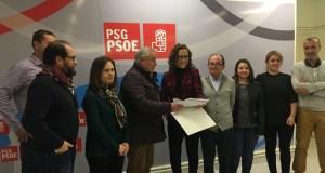 Os catro candidatos ás Primarias do PSOE de Ourense xa presentaron os avais