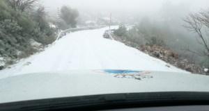Primeira nevada do outono en Manzaneda