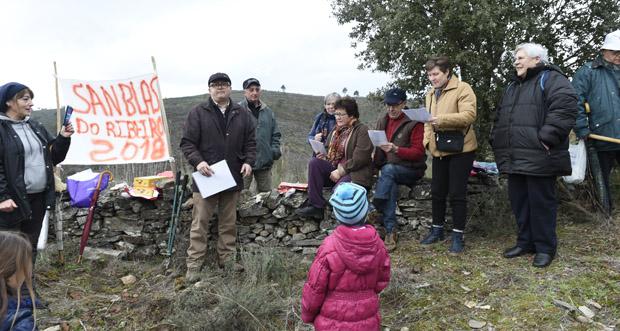 Veciños de Celavente (O Bolo) celebran a romaría de San Blas do Ribeiro