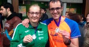 Remedios Durán e Francisco Camba (Peña Trevinca Barco), subcampións galegos de Score en M21B e F21B