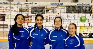 Catro xogadoras do Club Voleibol Ribeira Sacra, entre as mellores da canteira galega