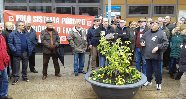 """Nova concentración no Barco para demandar """"pensións dignas"""""""